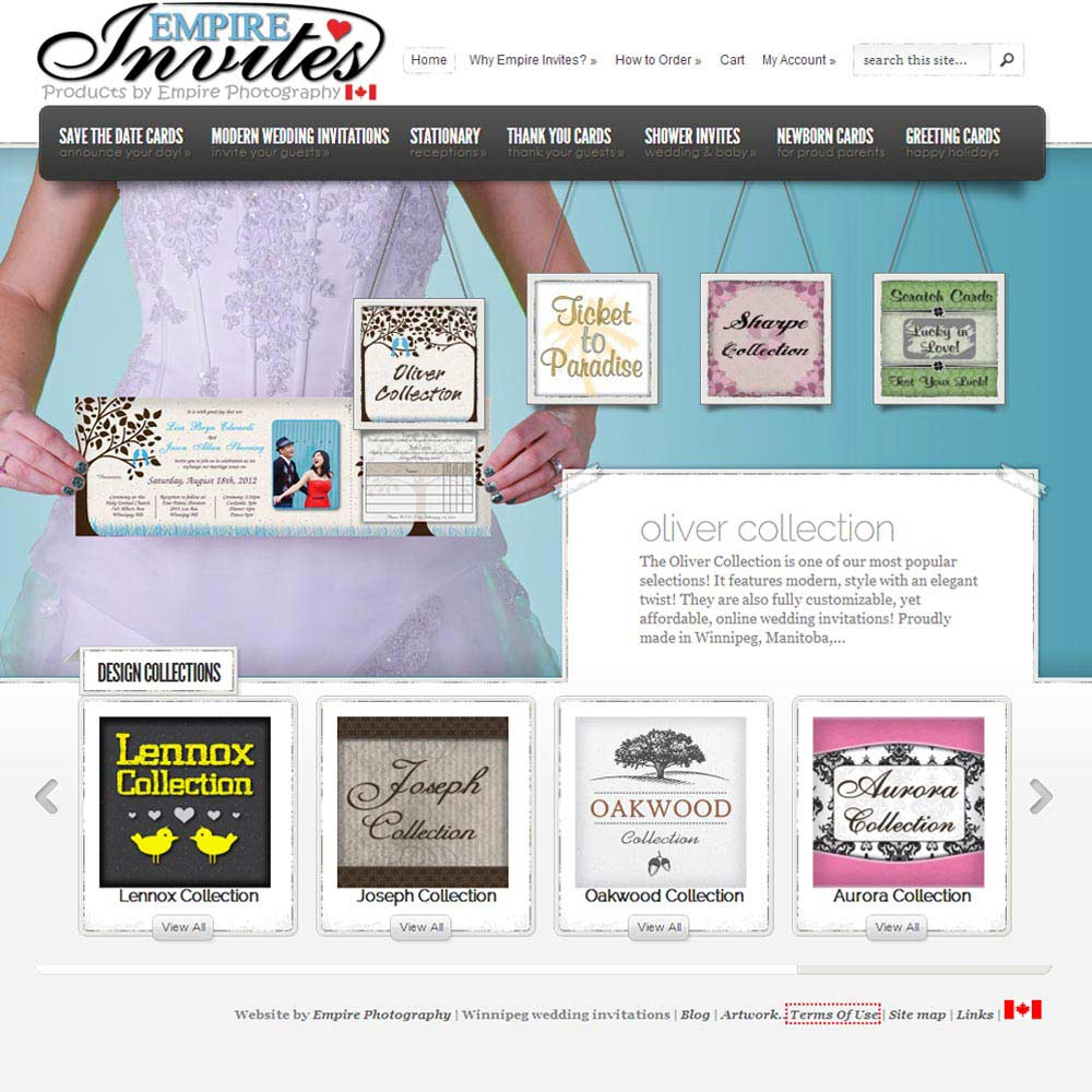 Custom Wedding Invitations Canada | Empire Invites, Winnipeg