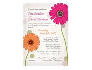 Floral Wedding Invitation (# 7)