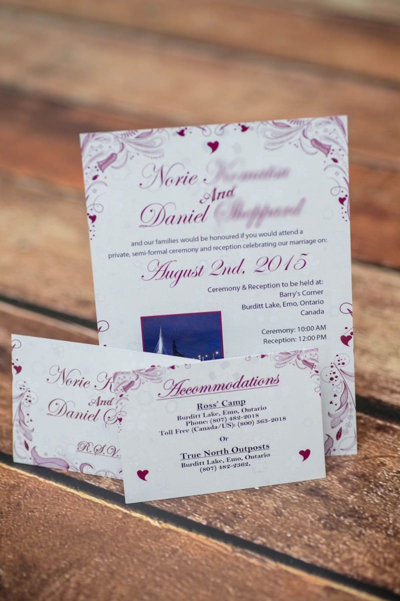 Custom Floral Wedding Invitations From Winnipeg Canada