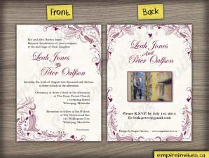 Floral Wedding Invitation (#14)