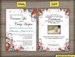 Floral Wedding Invitation (#16)