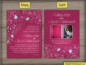 Floral Wedding Invitation (#20)