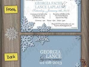 Winter Wedding Invitation (#6)