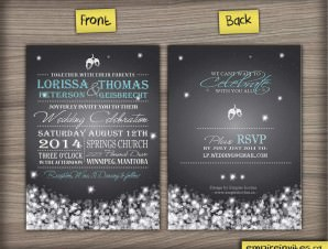 Winter Wedding Invitation #8 night snowfall