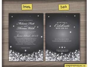 Winter Wedding Invitation #9 night snowfall